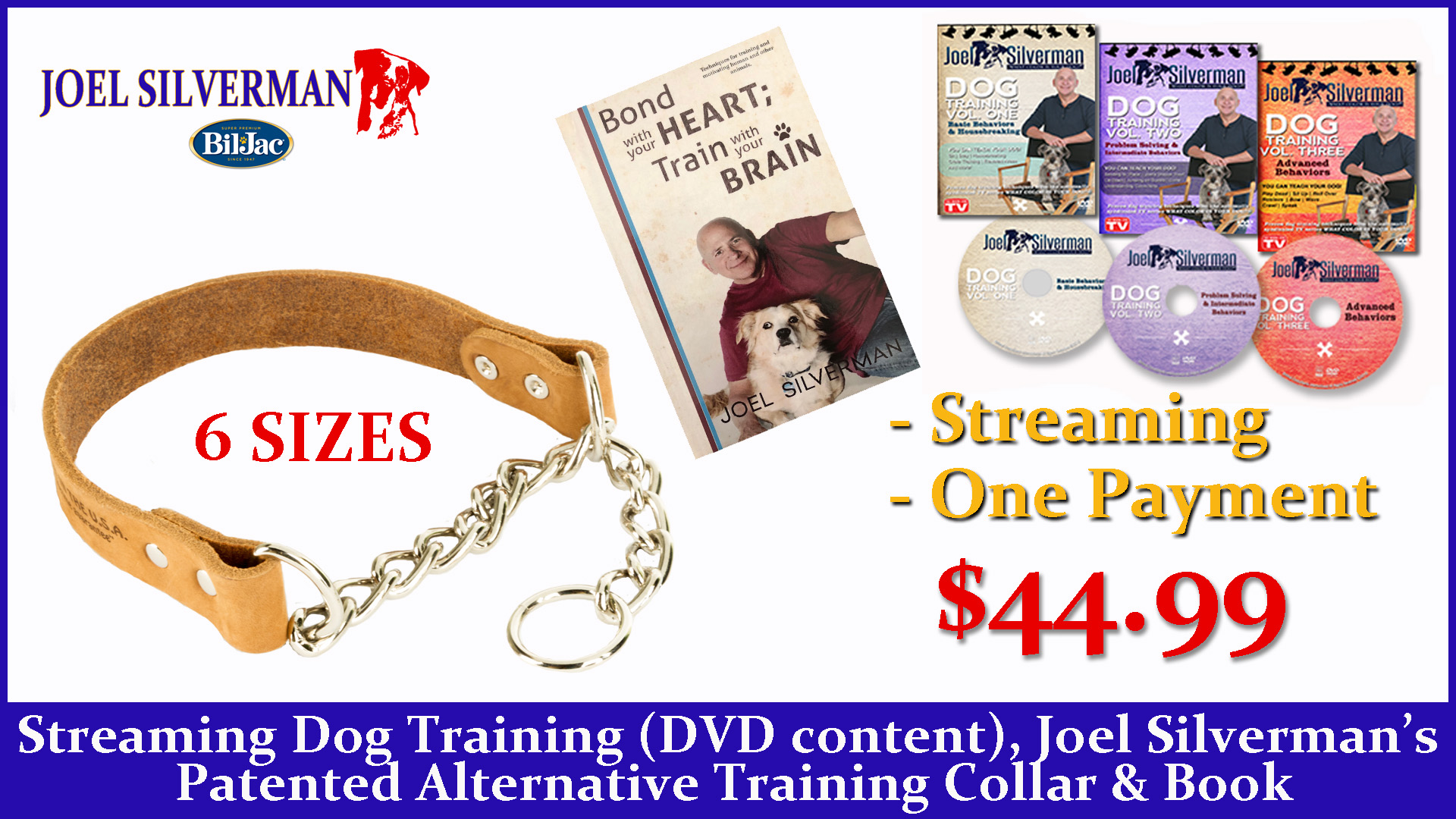 Streaming Dog Training – Basic, Intermediate, And Advanced + Alternative Training Collar + Bond With Your Heart; Train With Your Brain