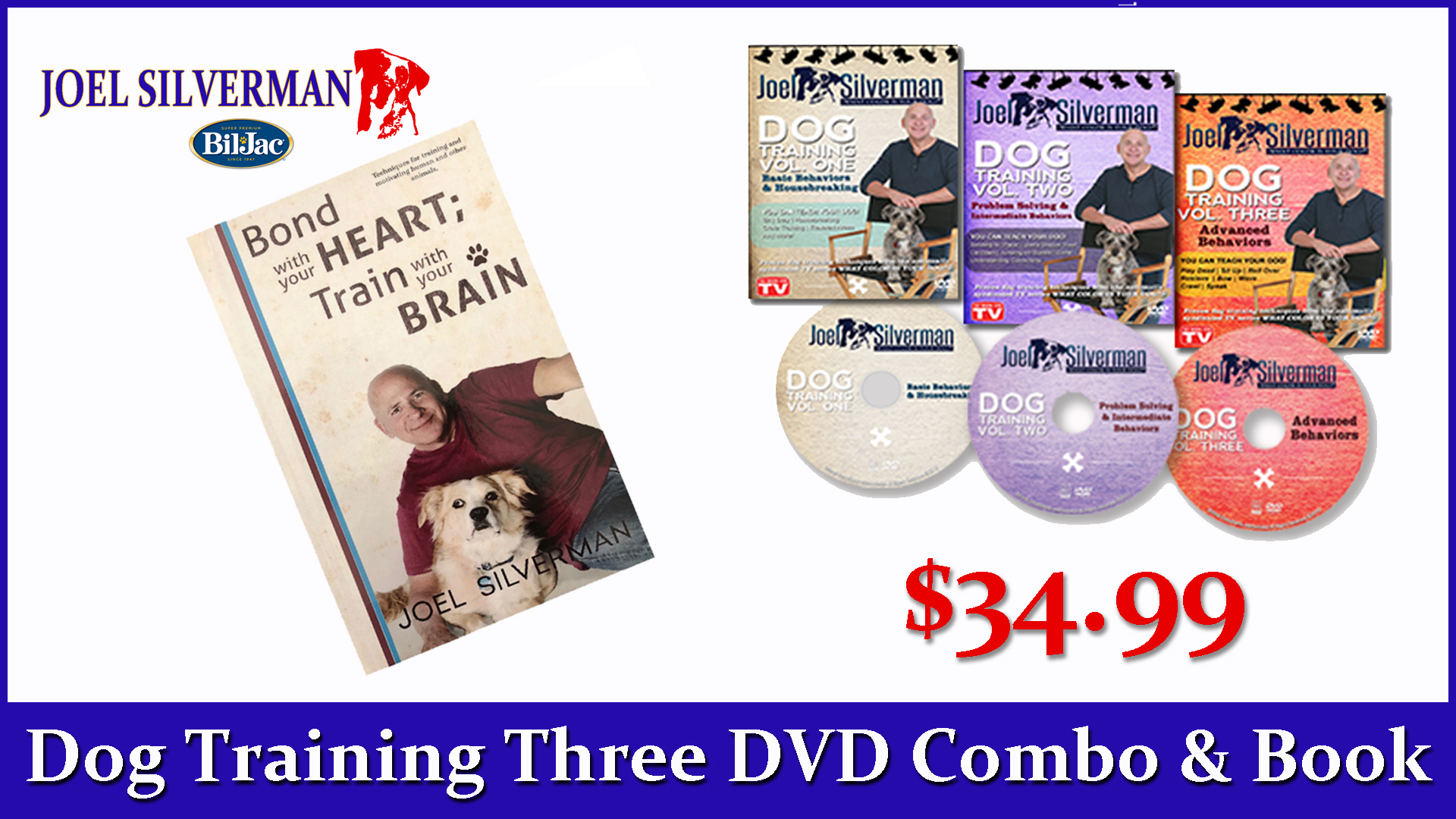 Joel Silverman's 3 DVDs/ Bond With Your Heart … Book