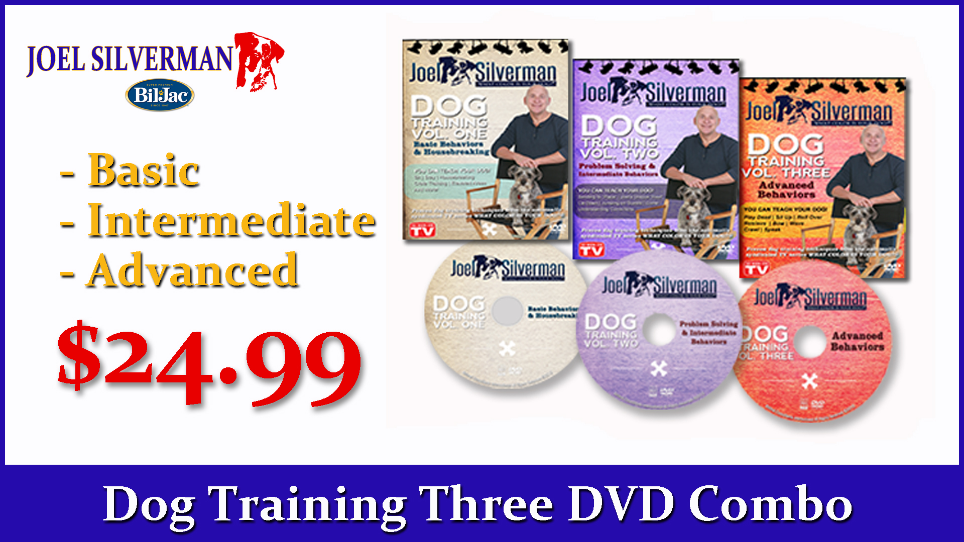 Joel Silverman's Deluxe 3 DVD Dog Training Combo (2015)