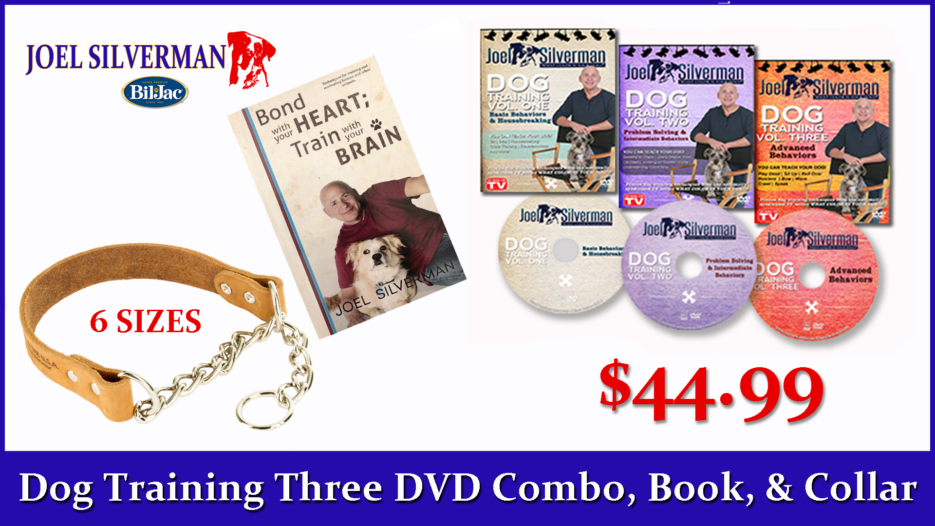 Joel Silverman's 3 DVD Set   Alternative Training Collar   Bond With Your Heart … Book