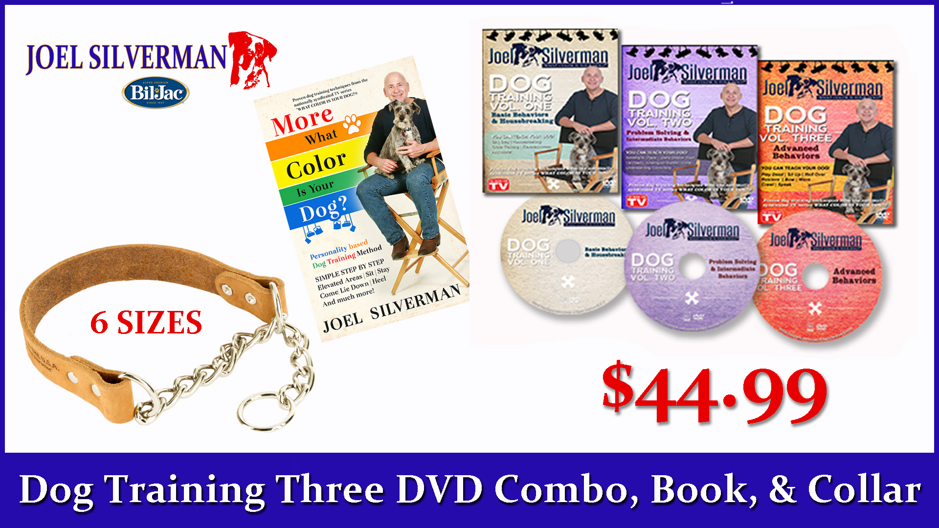 Joel Silverman's 3 DVD Set   Alternative Training Collar   More What Color Is Your Dog?