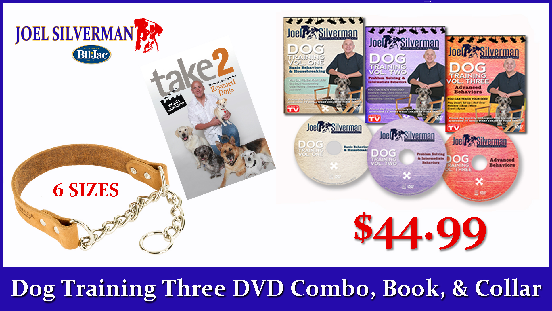 Joel Silverman's 3 DVD Set   Alternative Training Collar   Take 2, Training Solutions .. Book