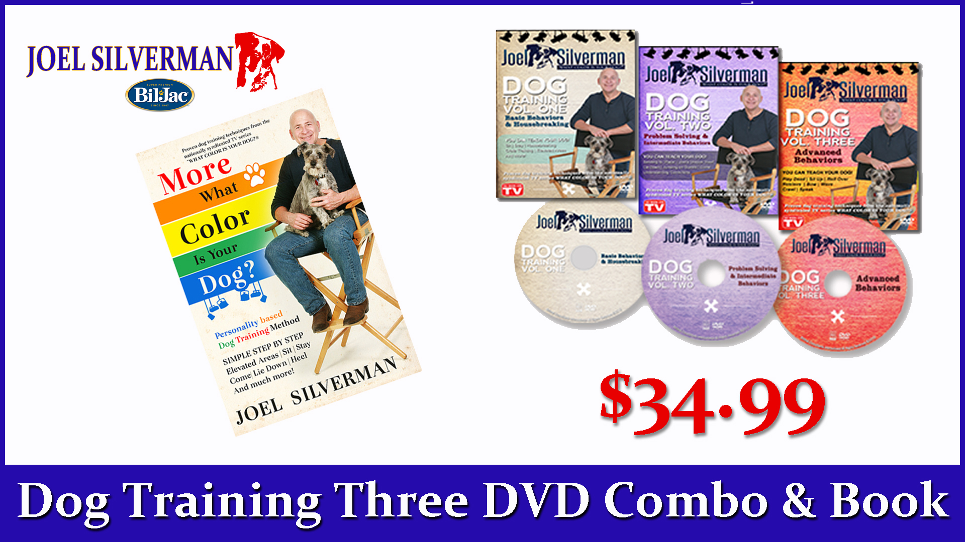 Joel Silverman's 3 DVDs – More What Color Is Your Dog? Book