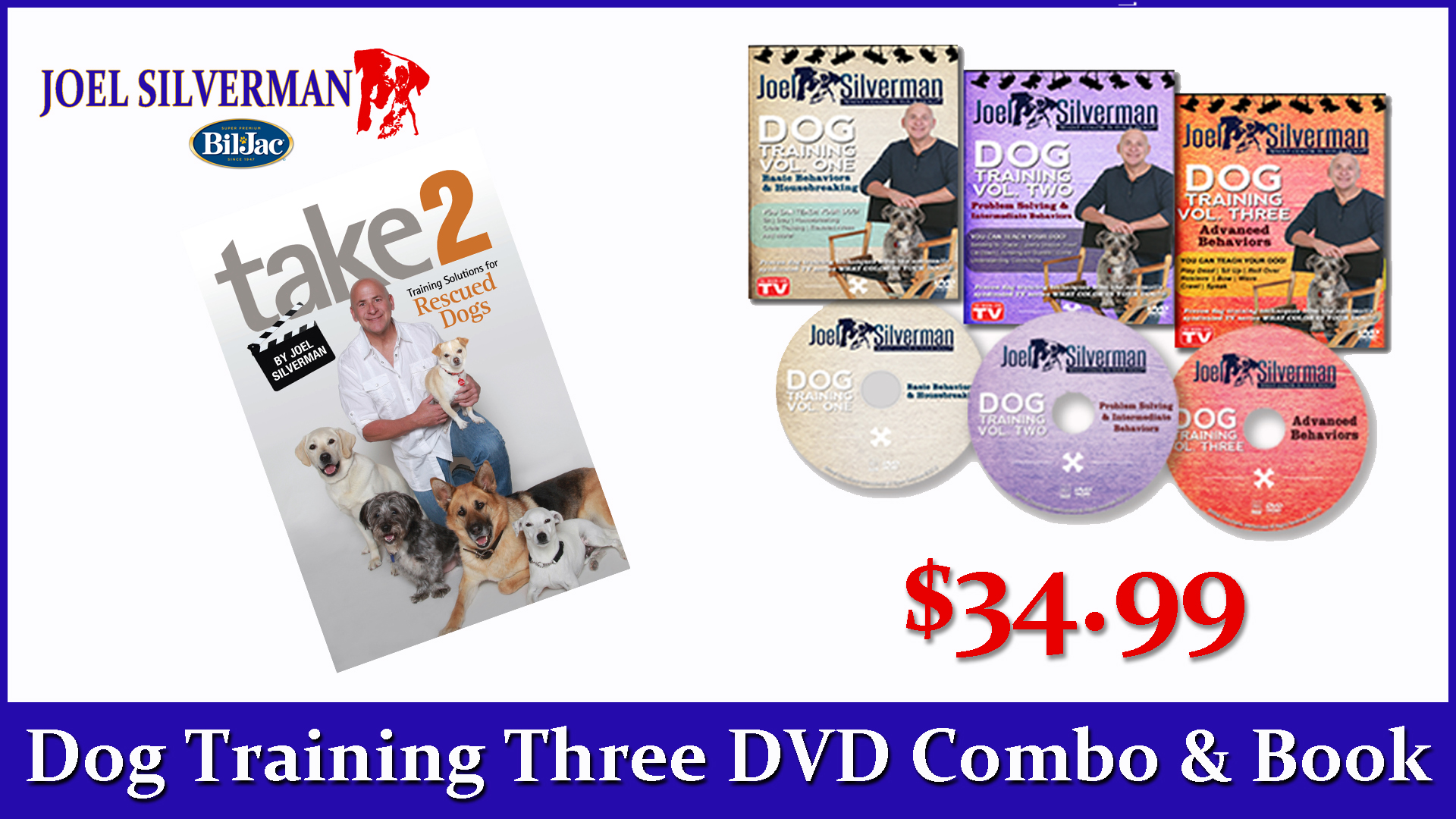 Joel Silverman's  3 DVDs   Take 2, Training Solutions .. Book