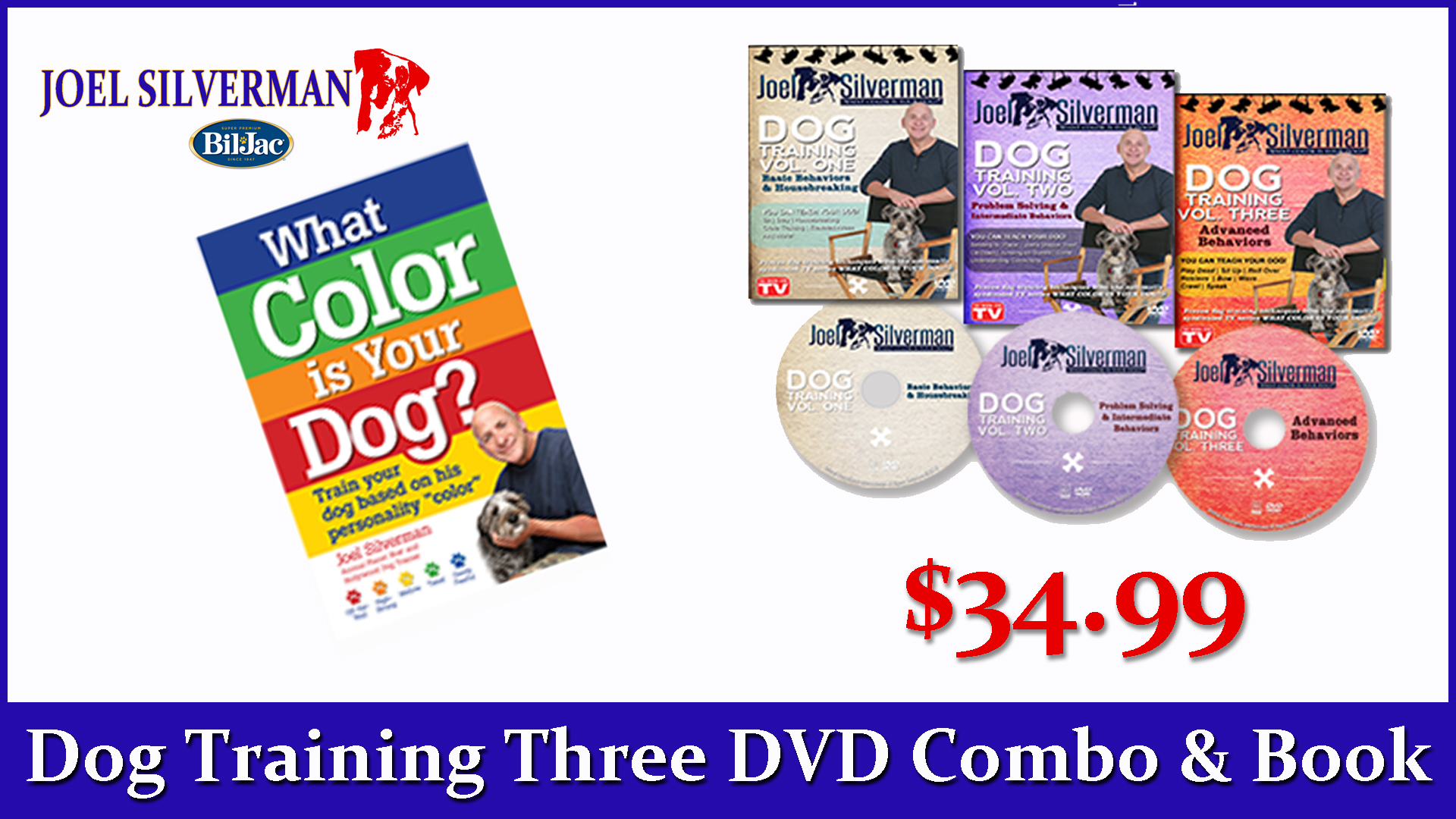 Joel Silverman's 3 DVDs   What Color Is Your Dog? Book