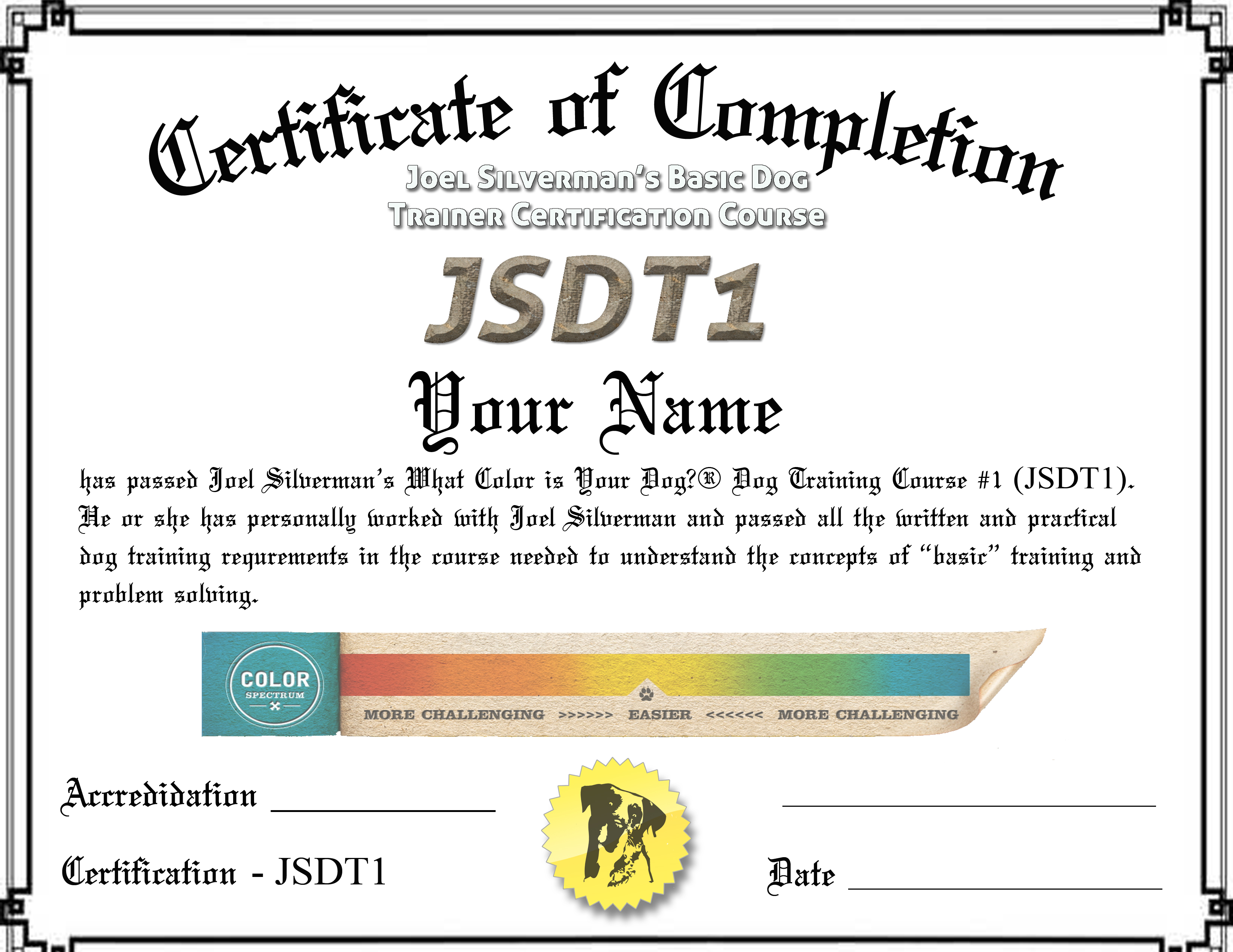 Jsdt1 Certification Course Five Trainer Special 460000