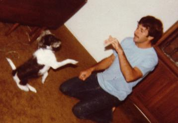 Animal Trainer Joel Silverman And His First Dog He Trained Named Shadow